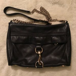 Rebecca Minkoff black leather bag satchel